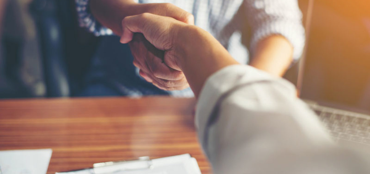 a handshake meeting